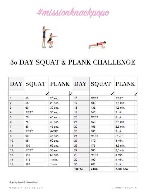 Fit In Den Frühling Mit Der 30 Tage Squat Plank Challenge Mini And Me