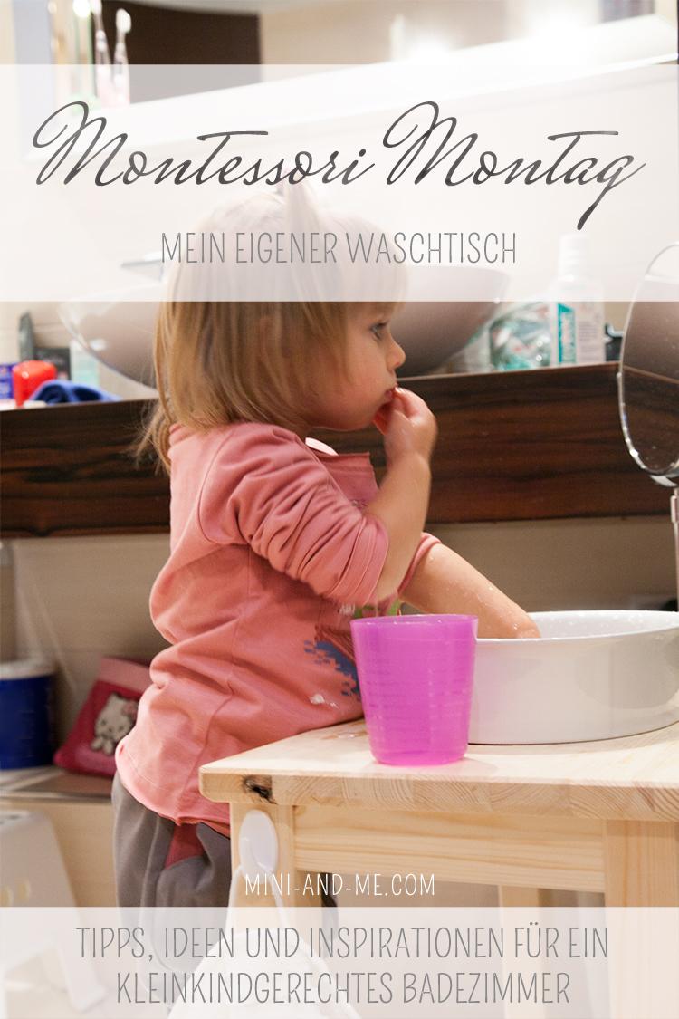 Montessori im Bad: der Waschtisch (oder eines der tollsten Dinge, die wir jemals umgesetzt haben)