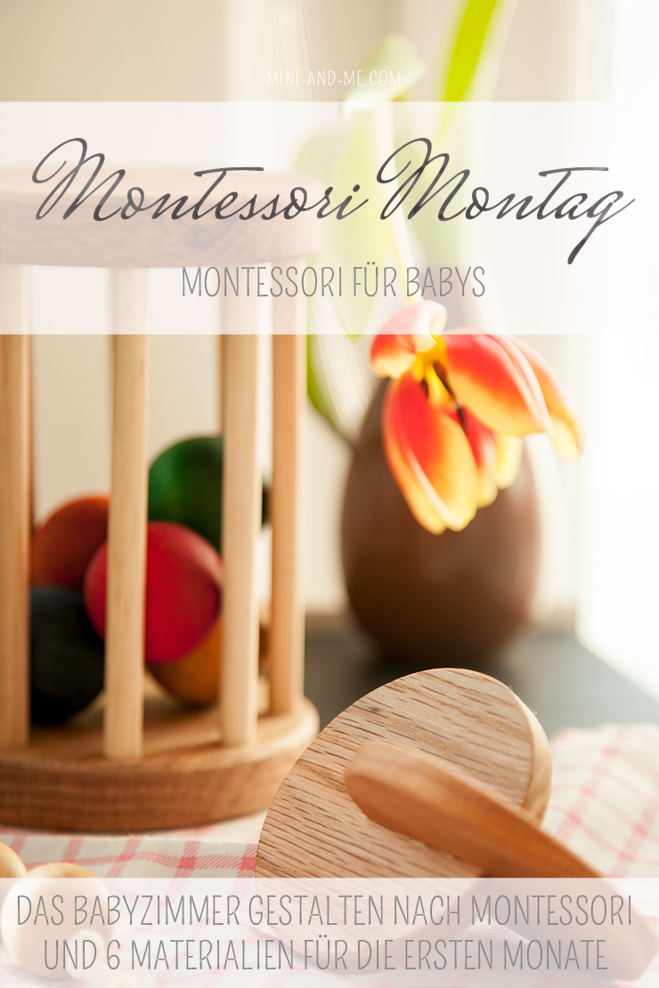 Montessori für Babys materialien für Babys von null bis sechs monaten beim Montessori Montag auf mini and me