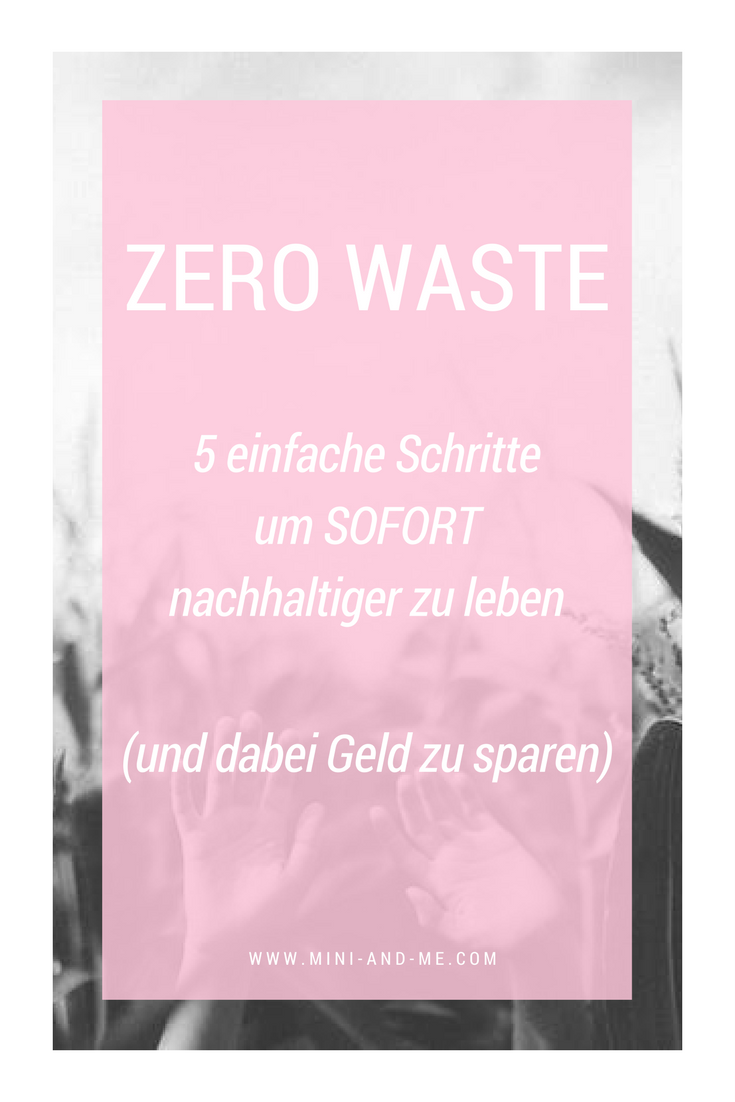 Zero Waste: 5 einfache Schritte, um sofort nachhaltiger zu leben und dabei Geld zu sparen