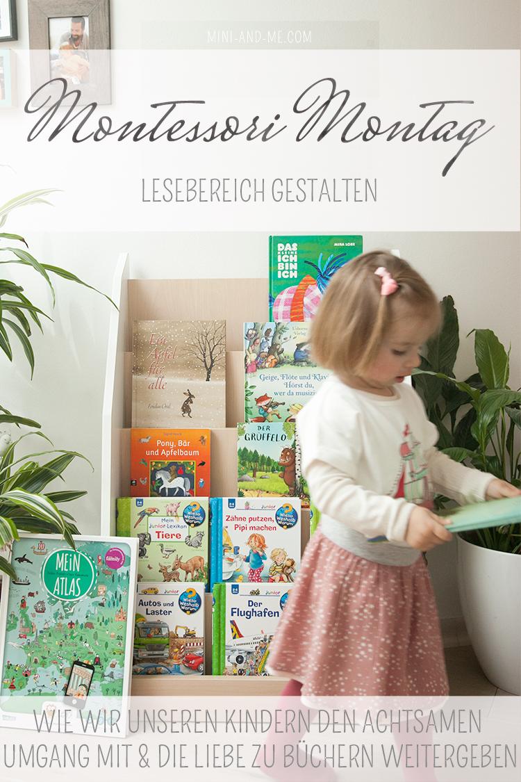 Bücher sind Schätze: Den Lesebereich nach Montessori gestalten und wie wir unseren Kindern die Liebe zu Büchern weitergeben