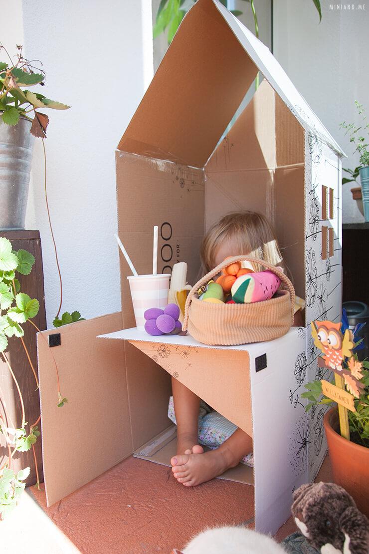 Upcycling Diy Faltbares Spielhaus Und Kaufladen Aus Einem