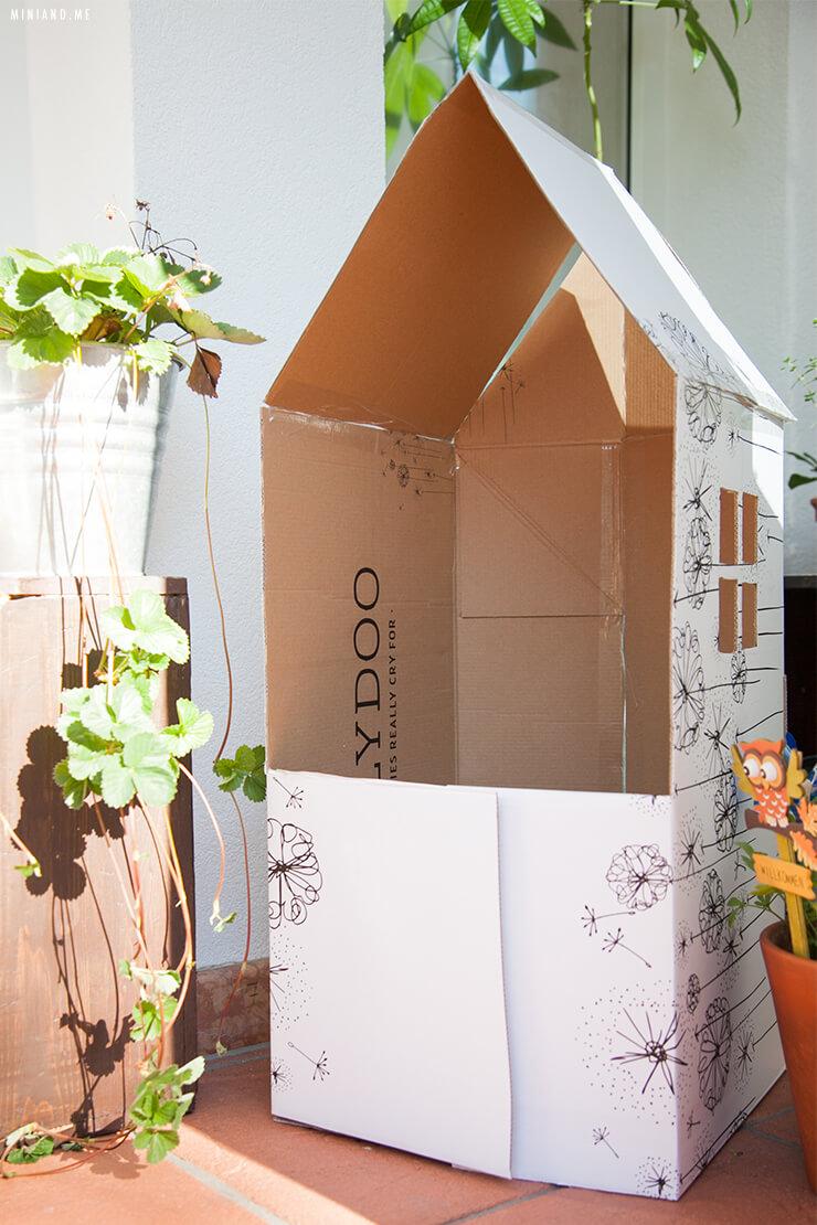Upcycling Diy Faltbares Spielhaus Und Kaufladen Aus Einem Einzelnen